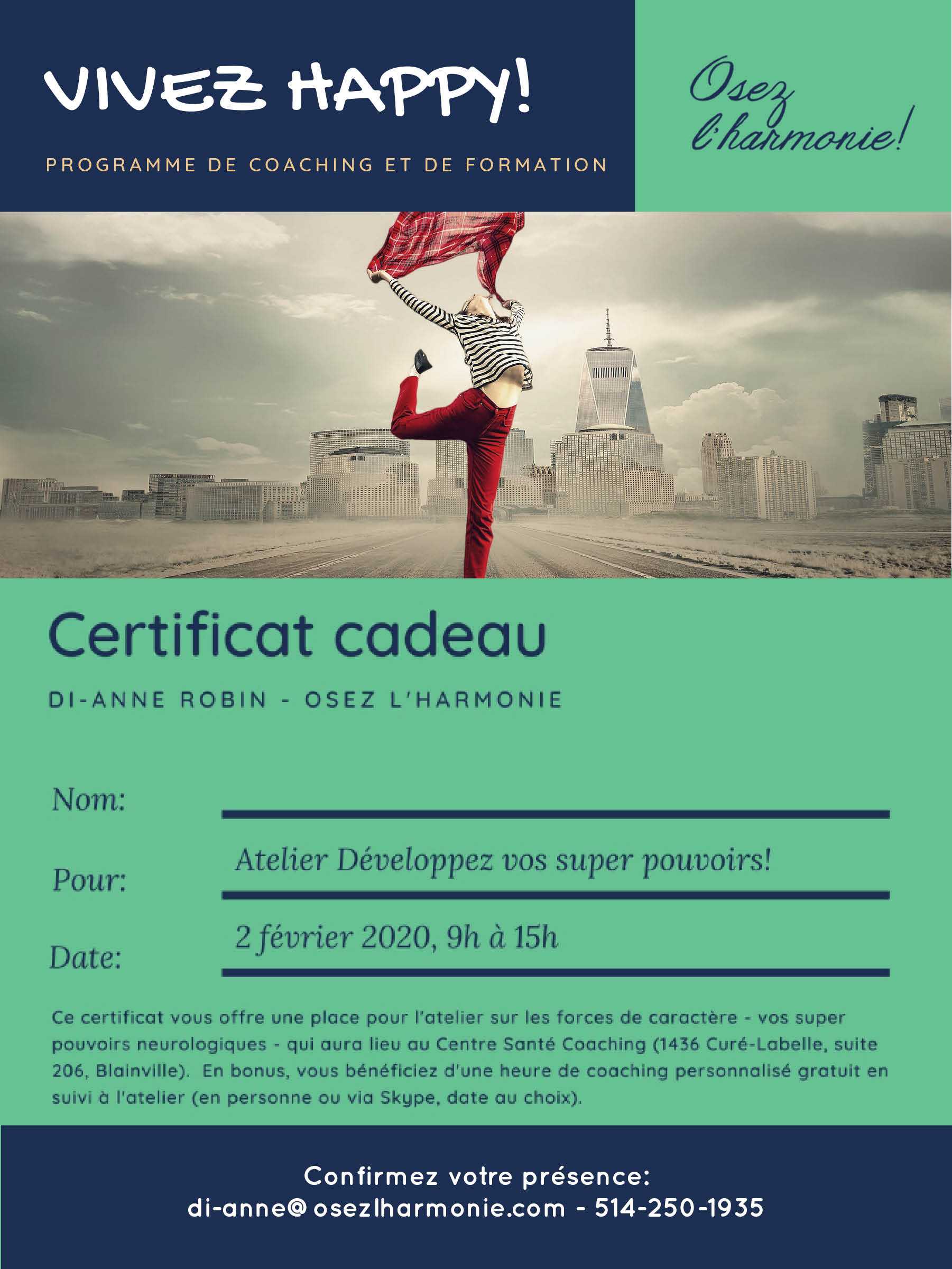 Certificat cadeau - atelier