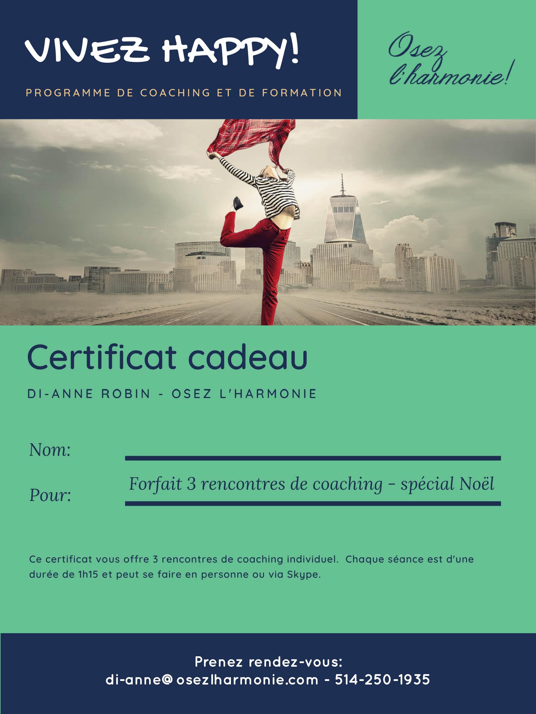 Certificat cadeau - coaching